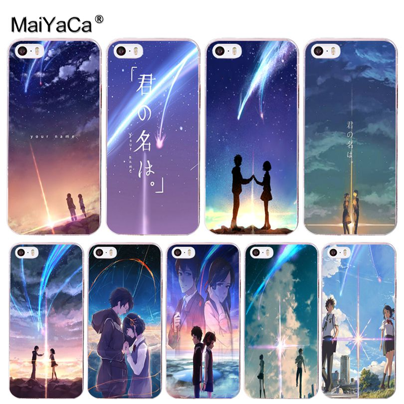 Kiminonawa Your Name Japanese Anime Cover Mobile Phone Case For Iphone 8 7 6 6S Plusx 10 5 5S SE XR XS XS MAX Cover