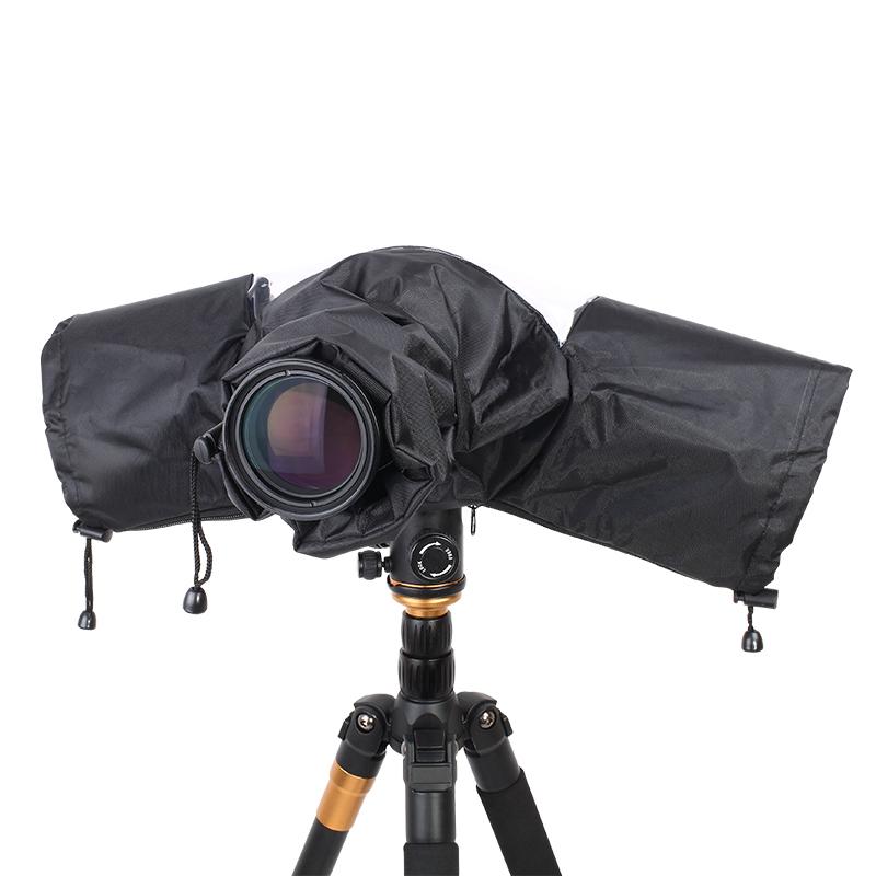 Prix pour Dslr téléobjectif caméra housse de pluie peut être connecté avec trépied pour canon nikon sony dslr pendax