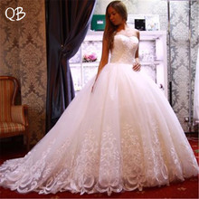 Custom Made Ball Gown Fluffy Sweetheart Tulle Lace Wedding Dresses Elegant Vintage Bridal Gowns DW128