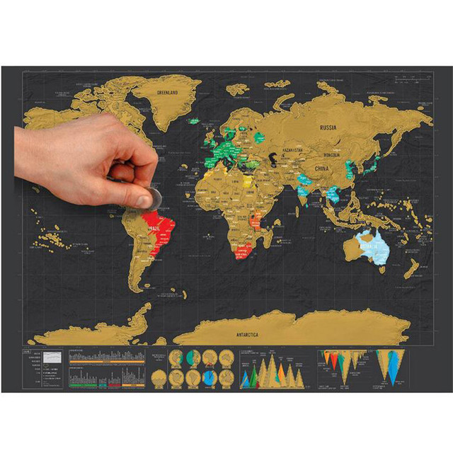 2017 new creative scratch map with scratch off layer visual travel 2017 new creative scratch map with scratch off layer visual travel journal world map poster for gumiabroncs Gallery