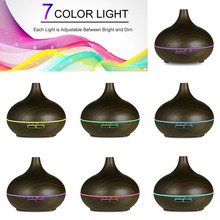 Essential Oil Diffuser Humidifier 550ml Large Capacity Wood Remote Control Aromatherapy Oil Diffuser Ultrasonic Cool Mist Maker