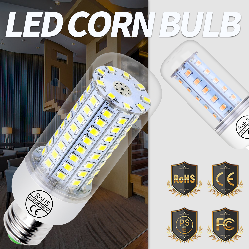 2835 лампада светодиодный E27 200 В лампочки кукурузы E14 высокая яркость светодиодный с ...
