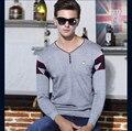 2016 Новых Осень мужская Молодежная Мода Трикотажные Пуловер Свитер Человек V Шеи Джемпер С Длинным Рукавом Свитера