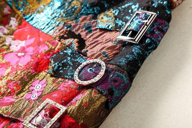 Falda mini vintage jacquard cristal elegante 7