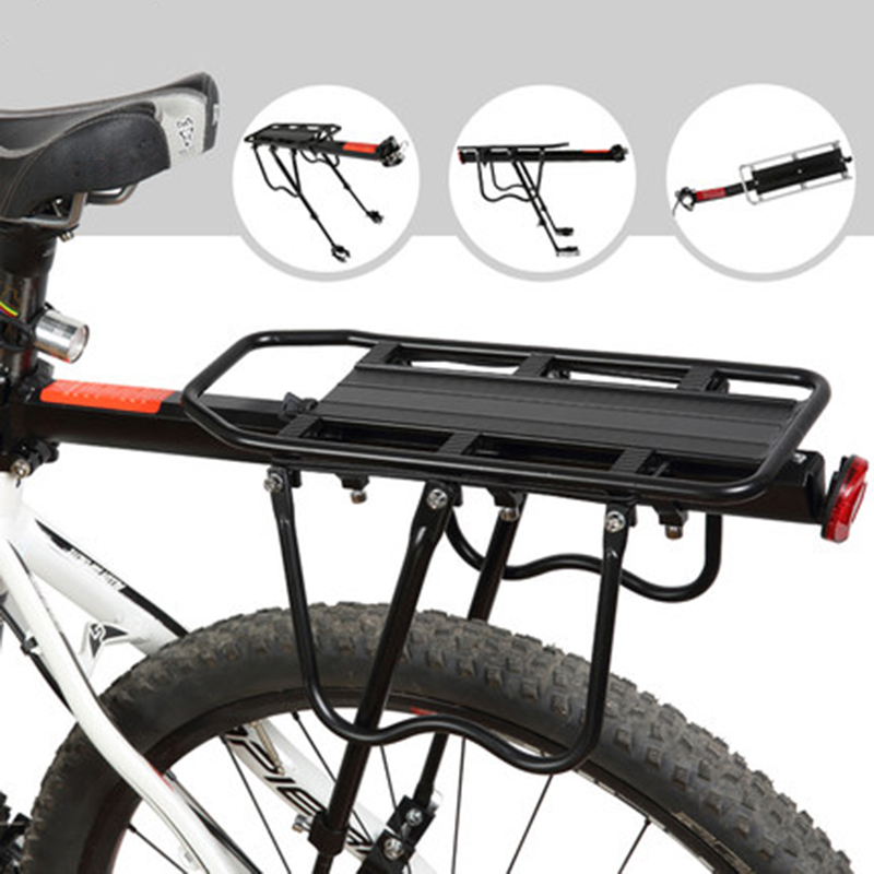Bicycle Mountain Bike Rear Rack Seat Post Pannier Carrier Luggage Outdoor Sight