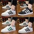 2016 nueva primavera verano Corea Del ocio masculino estudiantes lace up zapatos de lona planos de la manera respirable ocasional zapatos blanco negro simple