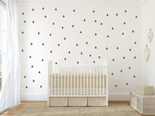 Removable Set Geometric Pattern Wall Sticker Nursery Kids Bedroom Home Art Decor Mural Vinyl W-782