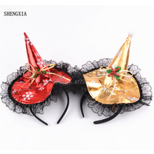 Christmas Halloween Festival Party Supplies Lace Snowflake Hat Headband Factory Direct