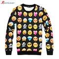 Sportlover Harajuku 3D Emoji Sweatshirts Women's Hoodies Printed Many Cute Small Face Fashion Thin Women Sweatshirts Kawaii