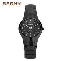 BERNY 유명 브랜드 새로운 도착 역할 럭셔리 블랙 세라믹 시계 남성 팔찌 Waterpoof 남성 시계 손목 시계 2322 메터