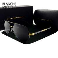 2017 di alta qualità new pilot occhiali da sole polarizzati uomini luxury brand vintage mens occhiali da sole di guida uv400 occhiali da sole con la scatola