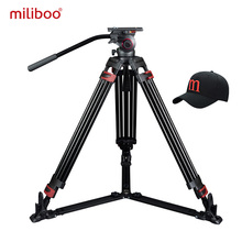 miliboo MTT609A Professional Heavy Duty Hydraulic Head Ball Camera Tripod for Camcorder DSLR Stand Video Tripod