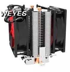 2 heatpipe, tower side-blown, for LGA 775/1155/1156 ,AMD 754/939/AM2/AM2+/AM3/FM1,CPU radiator, CPU cooler,dual-fan 4 heatpipe 130w red cpu cooler 3 pin fan heatsink for intel lga2011 amd am2 754 l059 new hot