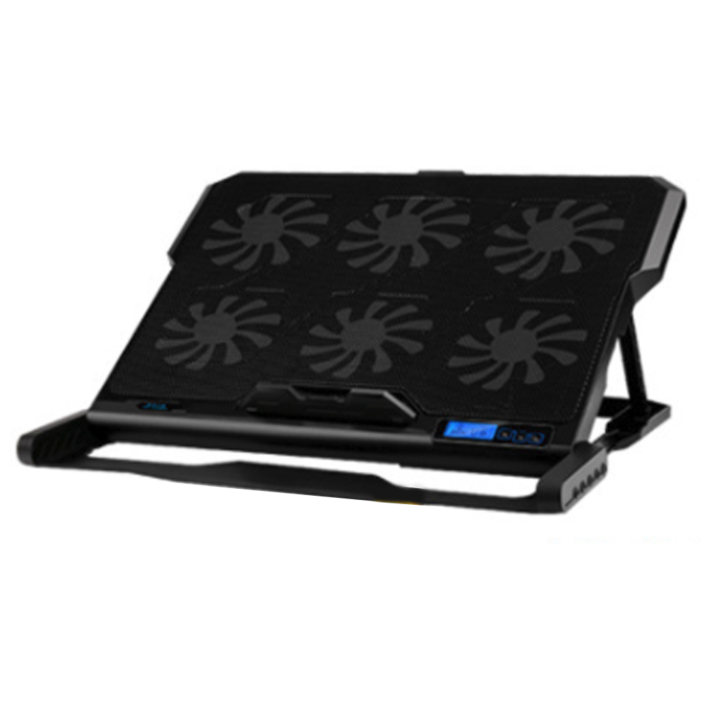 K6 Laptop Cooler 2 USB Ports Six Cooling Fan Pad Notebook Stand For 12-15.6 Inch Fixture