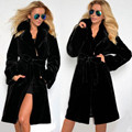 2016 Fur Coat Female Outerwear Top Raccon Fur Jacket With Fur Collar Long Design Women Winter Overcoat Thick Warm Plus Size