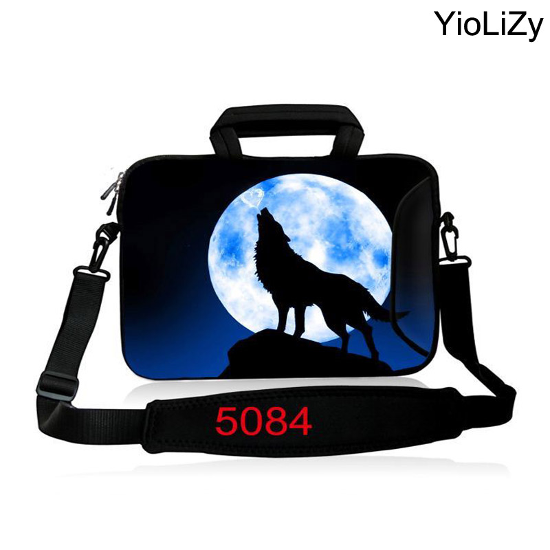 women Ultrabook Messenger Case wolf Notebook liner sleeve 10 12.1 13.3 14.4 15.6 17.3 briefcase men Laptop shoulder Bag SB-5084