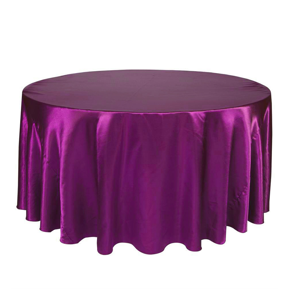 Black white 120 inch round satin tablecloths table cover for 120 inch round table linens