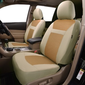 Image 1 - 2020 nowe samochodowe uniwersalne pokrowce na siedzenia samochodowe auto stylizacja Fit Interieur Accessoires Zetel Decoratie beżowe i szare czarne