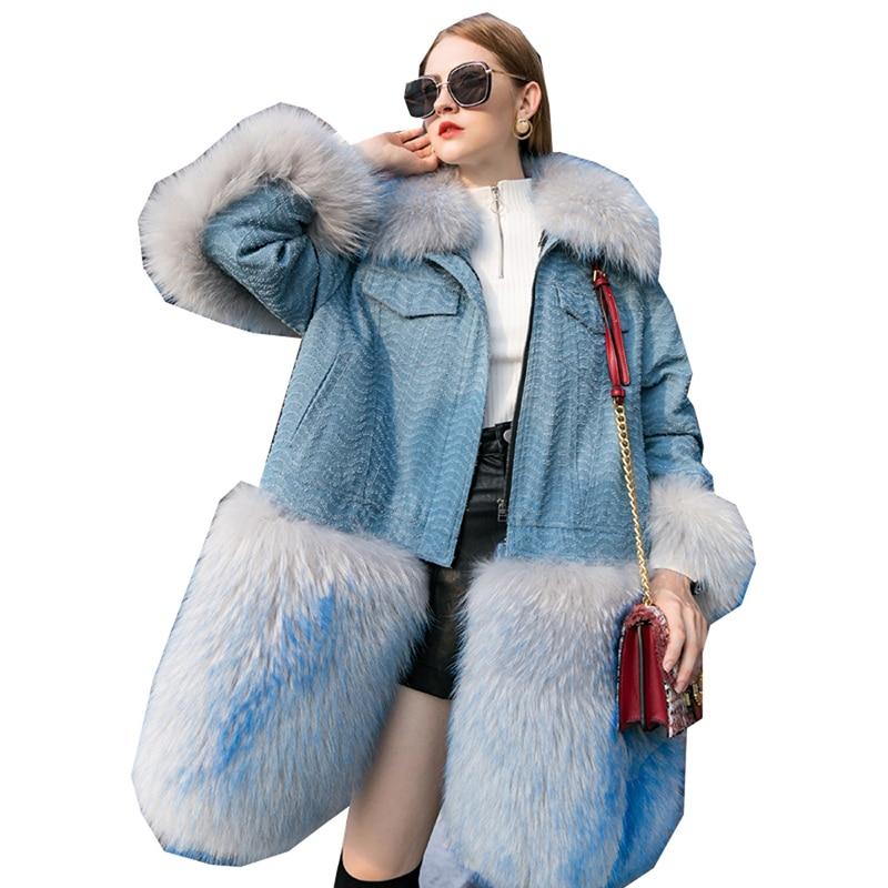 Real Fur Coat Autum Winter Jacket Women Clothes 2018 Korean Fox Fur Coat Fur Parka Femme Korean Vintage Chaqueta Mujer ZT1061