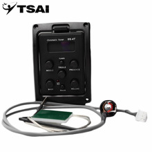 Tsai 4 banda EQ ecualizador acústica Guitarras preamplificador piezo con sintonizador LCD eq-4t control de volumen eléctrico Guitarras preamplificador