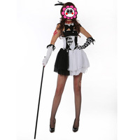 2016 Carnival Costumes Cosplay Clown Costume With Hat Dress For Adults Man Funny Fun White Costumes