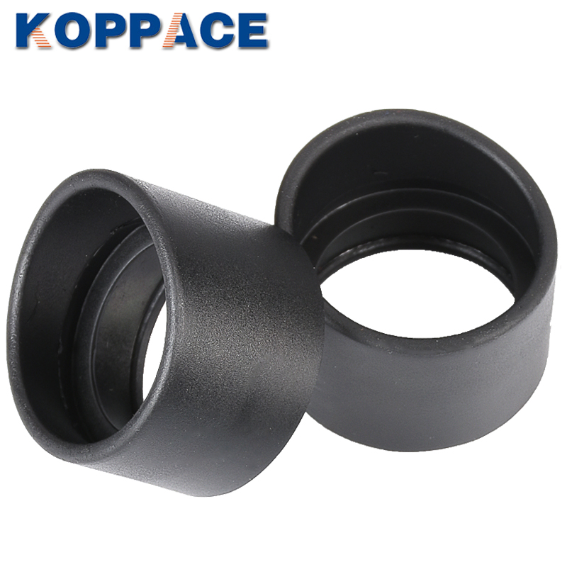 KOPPACE One Pair 36mm Inner Diameter Binocular Rubber Eyepiece Eye Guards Cups Shield For 32-36mm Stereo Microscope Eyepieces