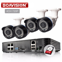 4CH 720P Network POE NVR Kit CCTV Security System 1 0MP IP Camera Outdoor IR Night
