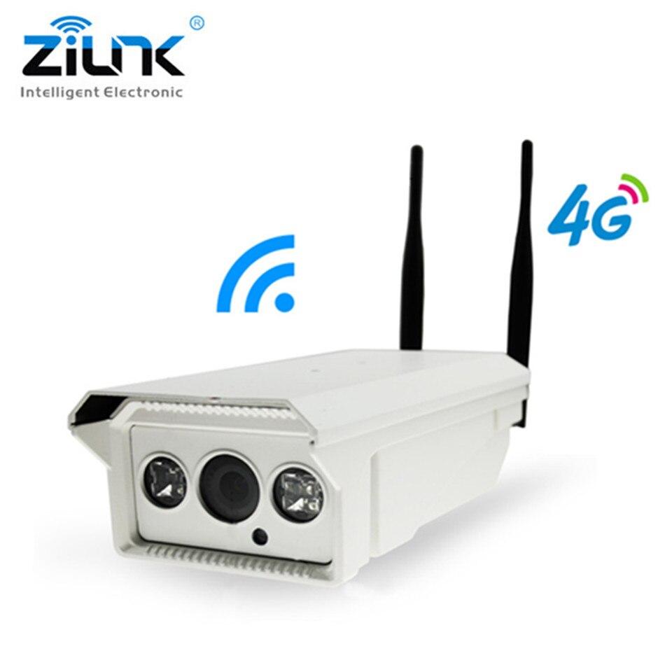 ZILNK 3g 4g SIM Carte Bullet IP Extérieure Caméra 1.3MP 2.0MP HD P2P Réseau Étanche IR Nuit Vision onvif Soutien 128 gb TF Carte