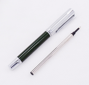 Image 2 - Fuliwen カーボン繊維絶妙なローラーペンとリフィル、ファッションダークグリーン品質筆記ペンオフィスビジネス