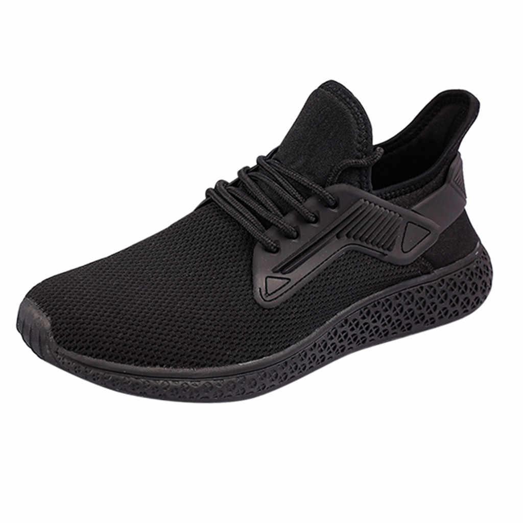 Amortiguación antideslizante de los hombres de verano blanco zapatillas para correr calzado para estudiantes transpirables deportes al aire libre zapatos de plataforma de ocio