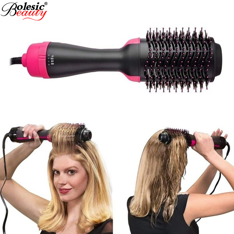 One Step Hair Dryer & Volumizer 3-in-1 Negative Ion Straightening Brush Salon And Curly Hair Comb Reduce Frizz And Static Dryer