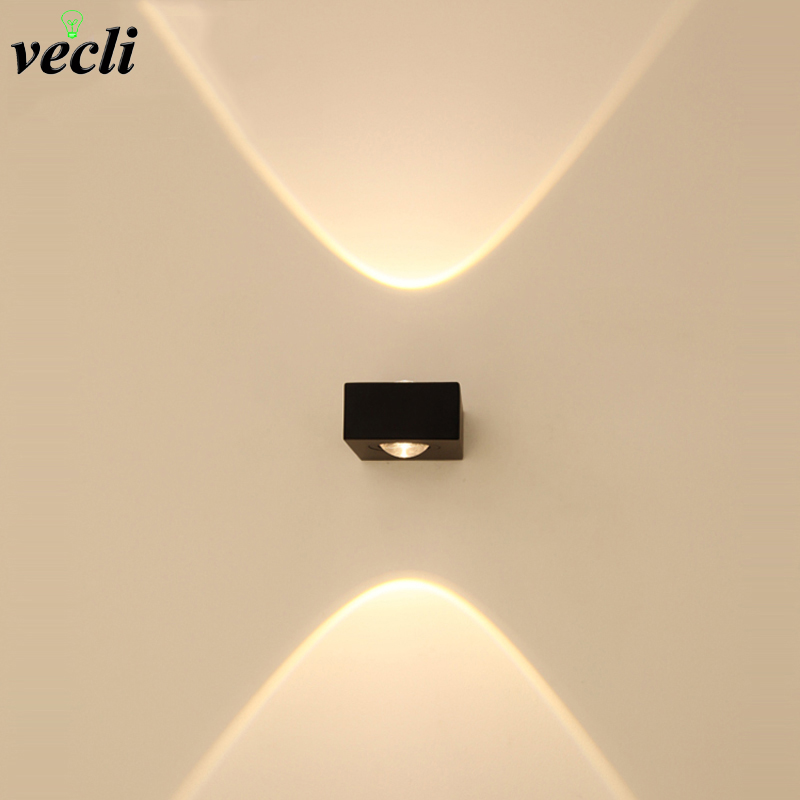 3W 6w Indoor led Wall lamp high-grade living room bedside TV background picture lamp garden front door aisle light bra