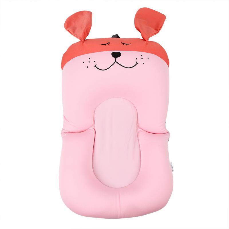 Мягкая подушка для ванны для новорожденного ребенка, плавающая Подушка с воздушной подушкой, подушка для купания малыша, подушка для душа, пищевая пена - Цвет: Pink Dog