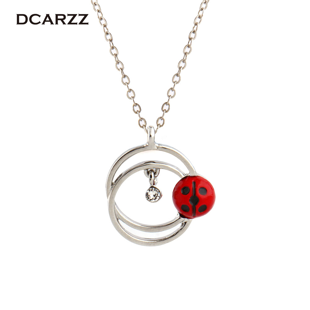 2 Colors Miraculous Ladybug Pendant the Cute Crystal Circle Necklace  Ainme Cartoon Jewelry for Girls 8e31c8981d08