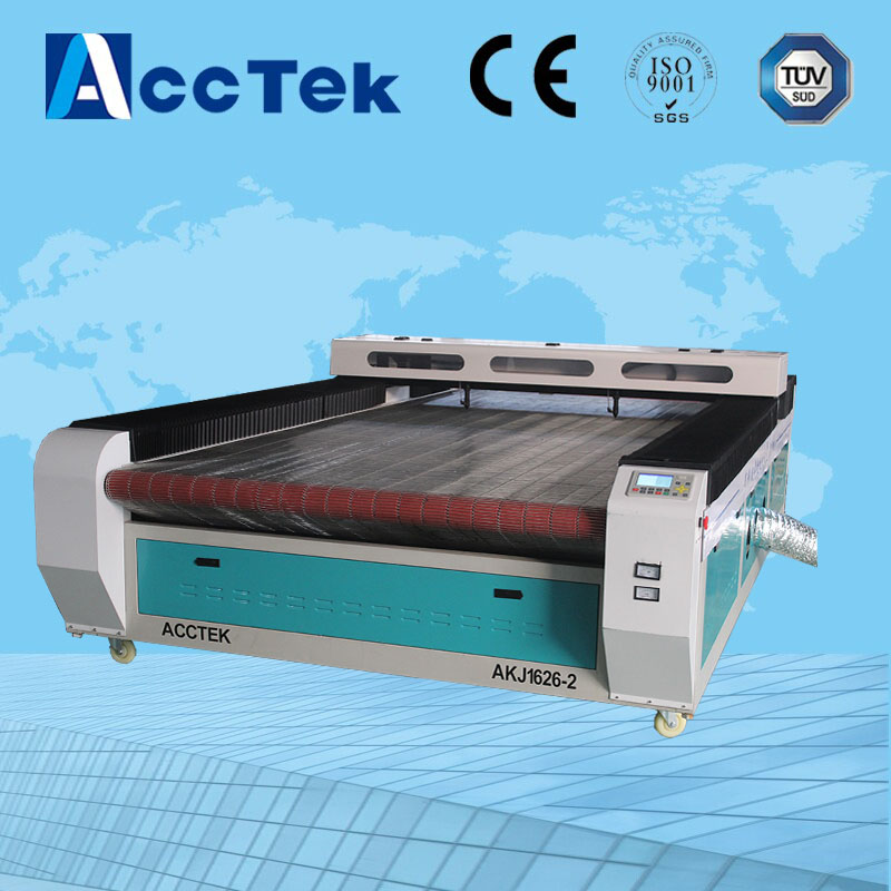 China double heads auto feeding system CO2 laser cutting machine for fabric