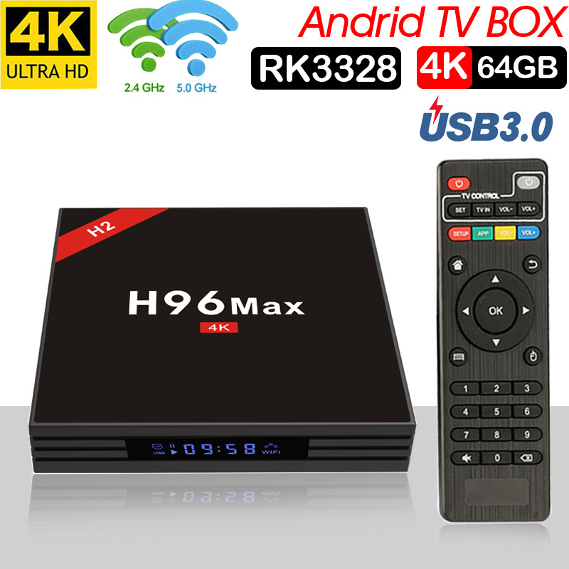Xinways Smart TV BOX Android 7.1 Rockchip RK3328 DDR3 4 gb di Ram 64 gb Rom IPTV boîtier décodeur intelligent 4 k USB 3.0 HDR H.265
