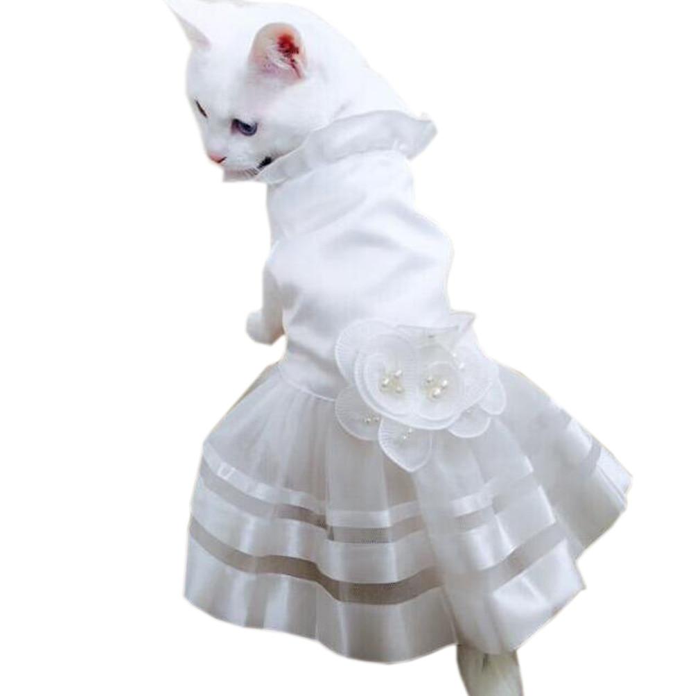 Gaun Pengantin Kucing kecil Putri Anjing Kucing Rok Pakaian Hewan - Produk hewan peliharaan - Foto 5