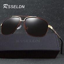 RSSELDN Classic Men's Polarized Sun glasses Fashion Brand Design Alloy Frame Glasses UV400 Polarized Sun glasses for Men 118
