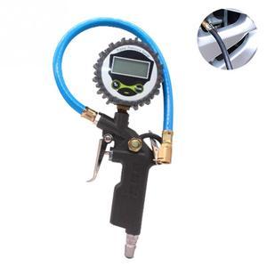 Image 5 - سيارة السيارات الرقمية قياس ضغط الهواء في الإطارات متر الإطارات مضخة نافخ هواء أداة 220PSI