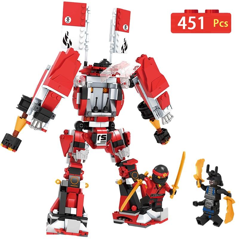 Fire Super Blow Mech Ninjago Building Block Compatible LegoINGlys Educational Construction Blocks Bricks Gift Toys for Children