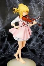 23 см. Ваша лежа в апреле, kaori miyazono, скрипка, фигурка, аниме, кукла, Коллекция ПВХ, фигурки, игрушки, игрушки для подарков