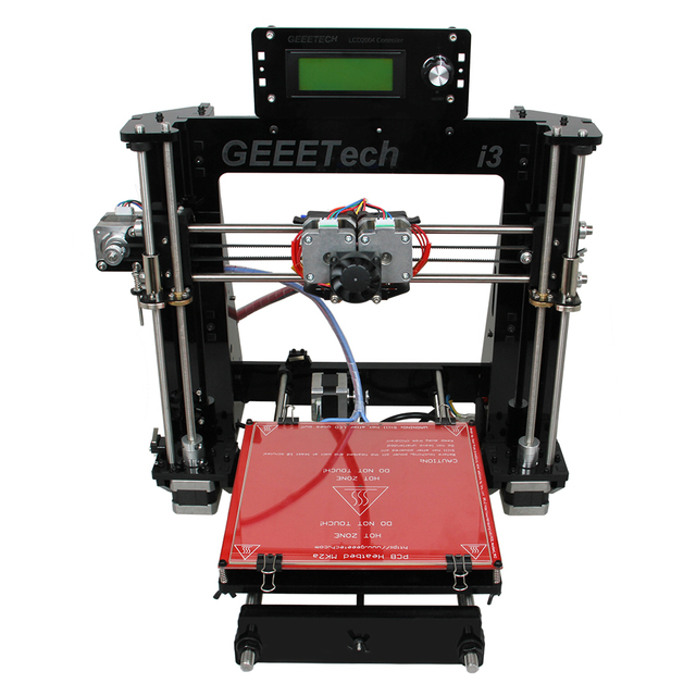 Geeetech I3 Pro C 3D Printer Dual Extruder Prusa Two-Color Printing High Resolution Impressora LCD2004 GT2560 Contro Board