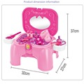 New Baby Toys Make Up Play sets Classic Furniture Toy Set  Girls Dresser Playsets Kids Children Gift