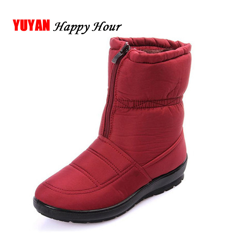 2019 Winter Shoes Women Waterproof Snow Boots Warm Plush for Cold Winter Fashion Women s Boots