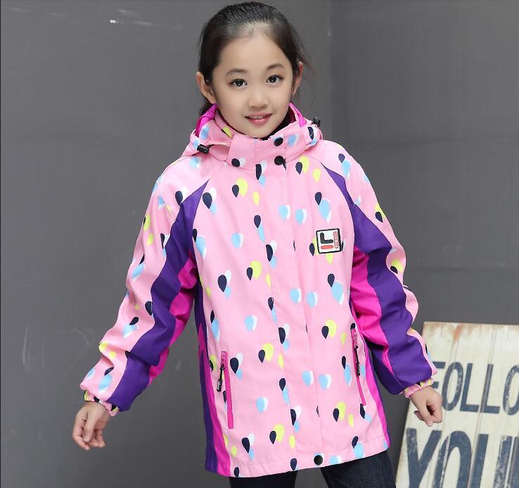 Children s autumn jacket 2018 new girls plus velvet COAT G9050