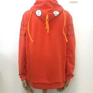 Image 3 - New Anime Pocket Monster Magikarp Hoodie Autumn/Winter Creative Fashion Leisure Orange Unisex Cotton Coat Free Shipping