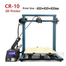 CRCREALITY 3D CR-10 DIY 3D Комплекты Принтера Большой Размер 400*400*400 мм Легко Собрать 3D Принтер Нити SD Card, Инструментов, Как Подарок