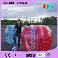 Kostenloser Versand Blase Fußball Ball  Dia 5 ft (1 5 m) Menschliche Hamster Ball  dicke 1mm TPU Transparente Aufblasbare Bumper Ball Zorb Ball