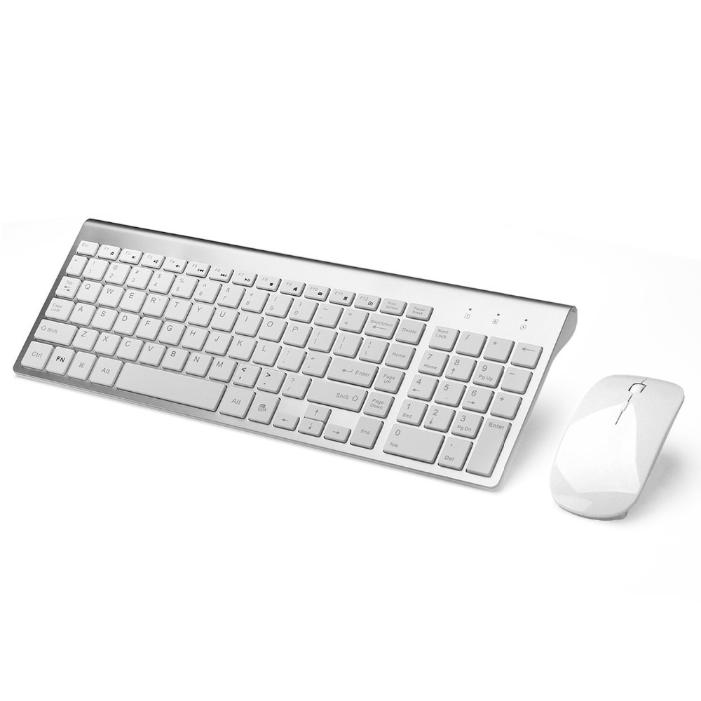 Russian Spanish Sticker 2.4G Wireless Keyboard and Mouse Combo 102 Key Low-Noise Keyboard Mouse for Mac Pc WindowsXP/7/10 Tv Box matte 48 key keyboard sticker white black russian