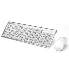 Russisch Spanisch Aufkleber 2,4G Drahtlose Tastatur und Maus Combo 102 Key Low-Noise Tastatur Maus für Mac Pc WindowsXP/7/10 Tv Box